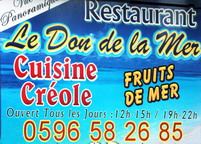 restaurant location martinique tartane